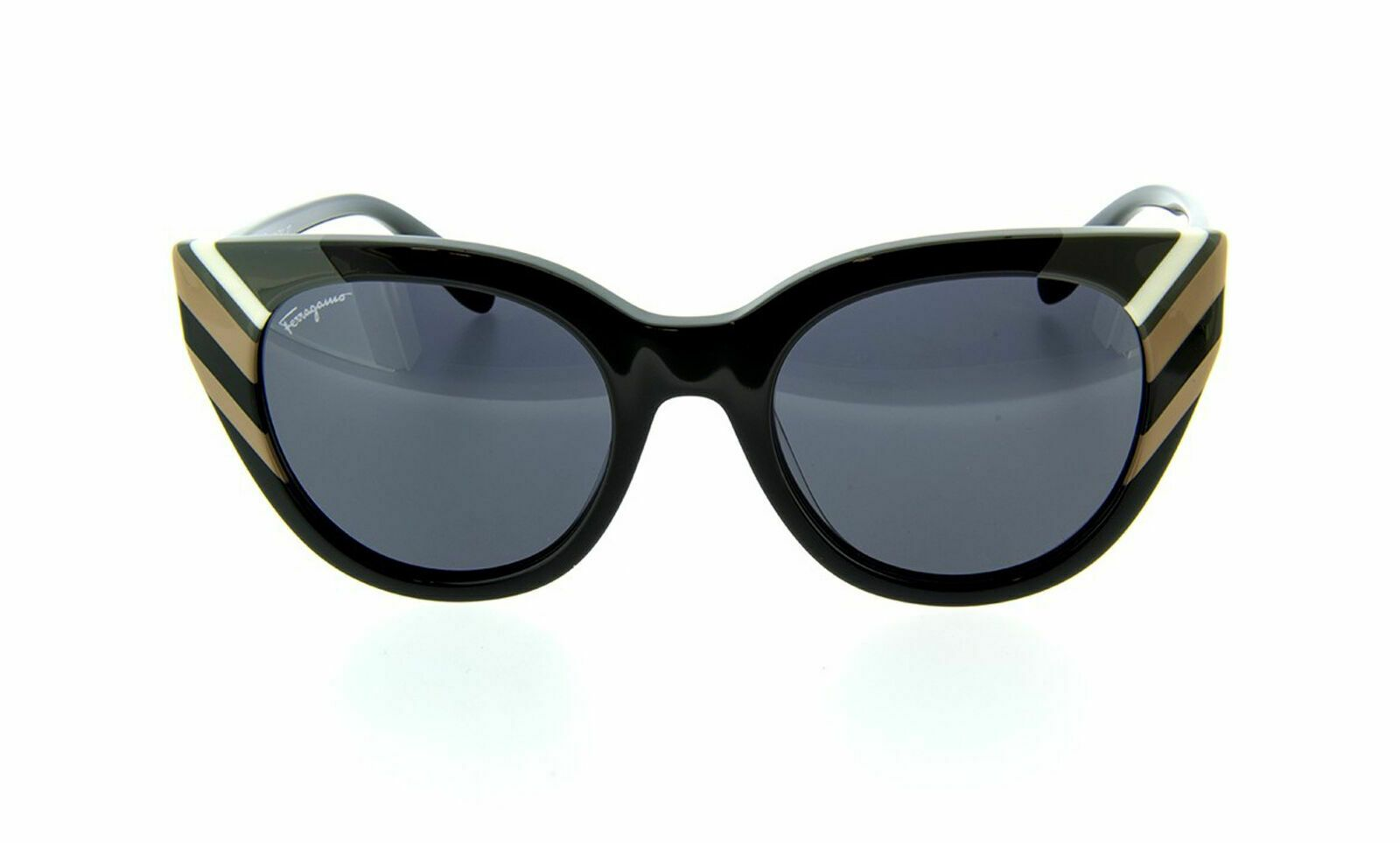 Ferragamo SF867S Women Sunglasses Black NEW AUTHENTIC 50mm - Mydesigneroptic