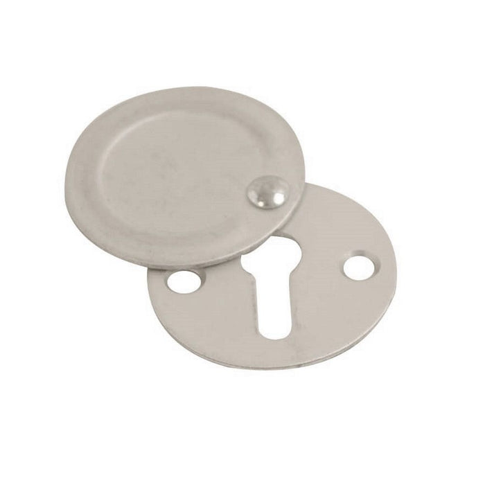 Keyhole Cover / Escutcheon 32mm - Closed (Satin Anodised Aluminium)