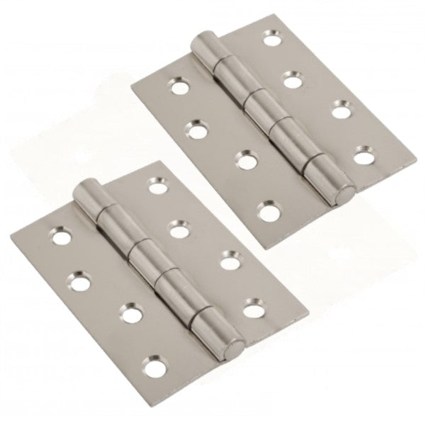 Heavy Duty Steel Butt Hinge - 100 x 75mm (Chrome Plated) - Pair