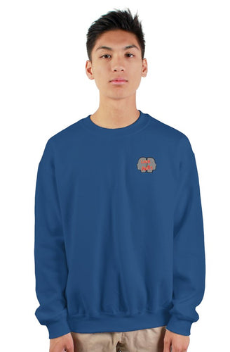 royalblue patch crew neck