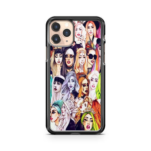 Lady Gaga Characters Faces iPhone 11 Pro Case Cover