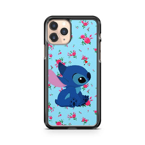 Lilo And Stitch Pattern Floral iPhone 11 Pro Case Cover
