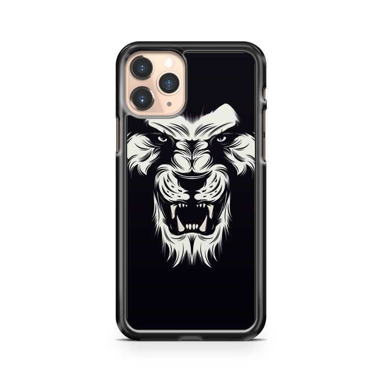 Lion Head In Black And White Tattoos iPhone 11 Pro Case Cover