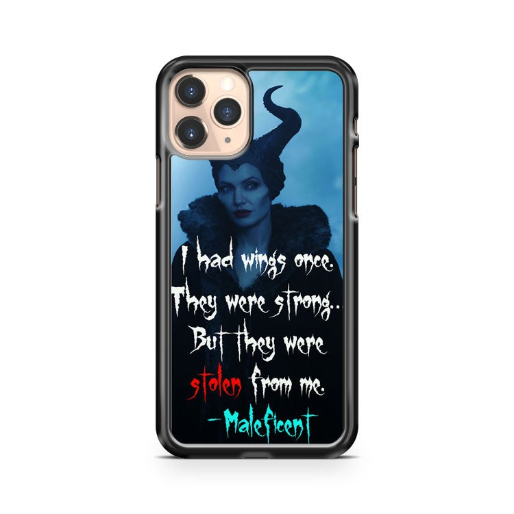 Maleficent Angelina Quote iPhone 11 Pro Case Cover