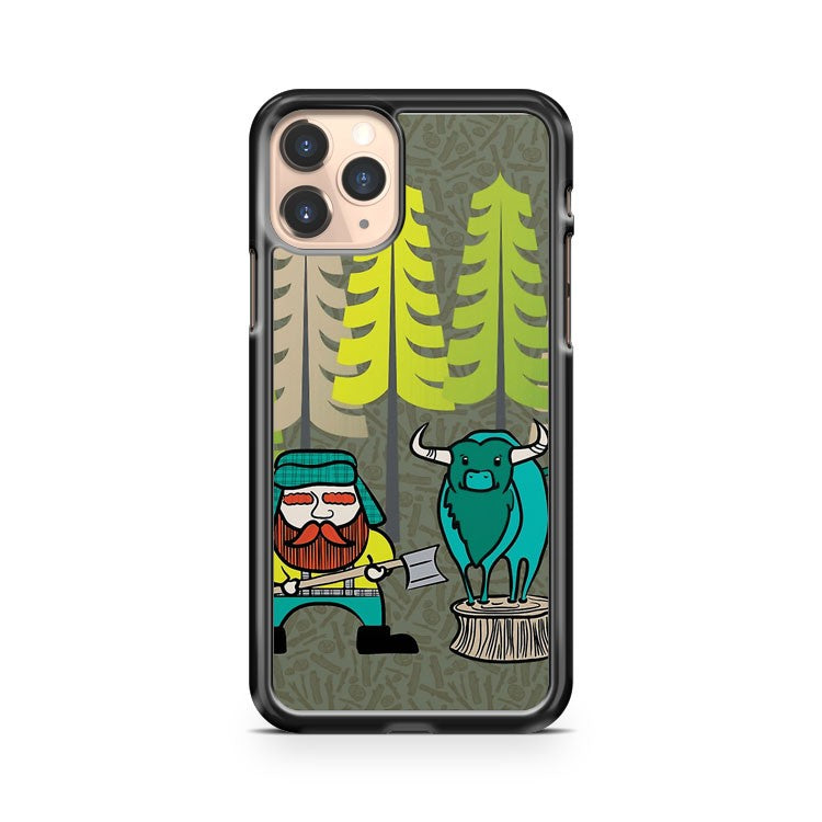 Lumberjack Attack Paul And Babe iPhone 11 Pro Case Cover