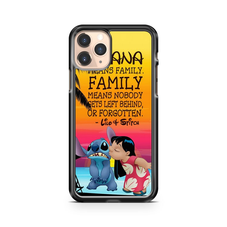 Lilo And Stitch Ohana Means Family iPhone 11 Pro Case Cover