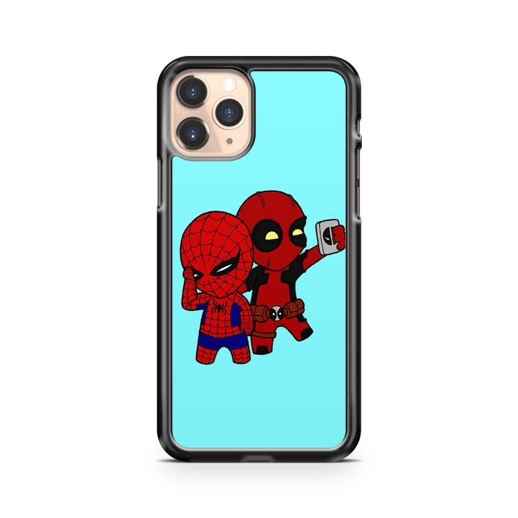 Little Spiderman Deadpool Selfie iPhone 11 Pro Case Cover
