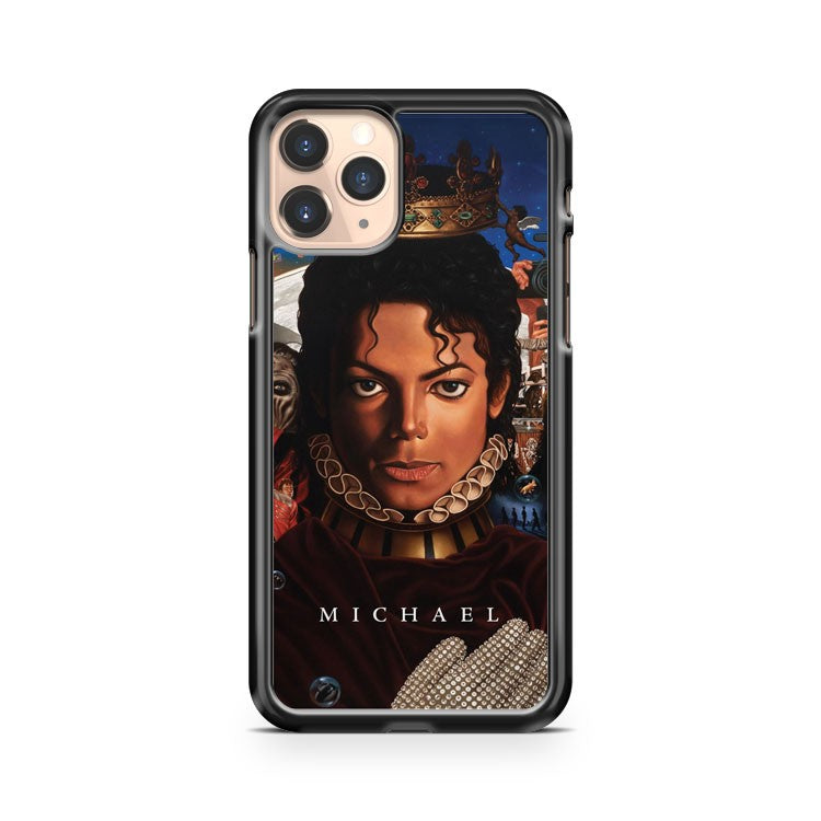 Michael Jackson King Of Pop Hit Music Crown Angel iPhone 11 Pro Case Cover