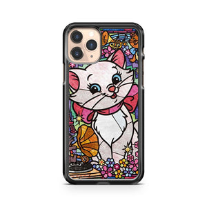 Marie Cat Stained Glass iPhone 11 Pro Case Cover