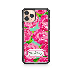 Lilly Pulitzer Pattern Roses Design iPhone 11 Pro Case Cover