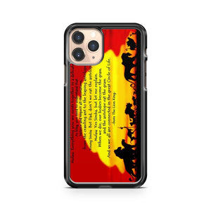 Lion King Quote Remember Who You Are iPhone 11 Pro Case Cover