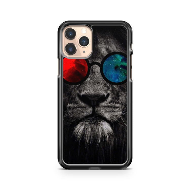 Lion Red And Blue Galaxy iPhone 11 Pro Case Cover