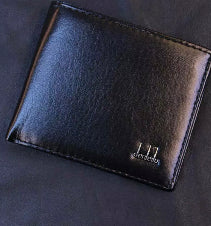 Black Leather Men's Wallet