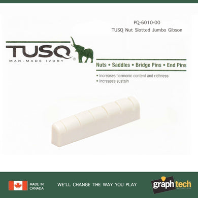 NEW Graph Tech TUSQ Nut Slotted Jumbo Gibson, Les Paul, SG & Others - PQ-6010-00