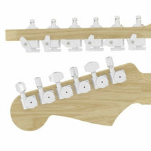 Load image into Gallery viewer, NEW Hipshot STAGGERED Tuners Fender® Directrofit™ LOCKING Amber Buttons - SATIN