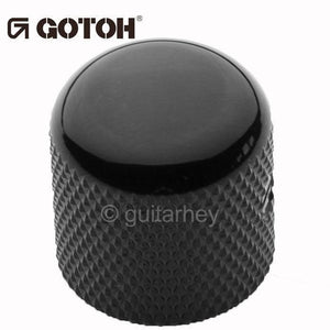 NEW (1) Gotoh VK1-18 - Control Knob DOME - Bass, Guitar, 6mm ID - METAL - BLACK