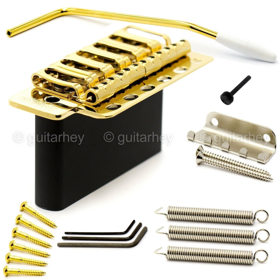NEW Wilkinson by Gotoh VSVG Vintage Tremolo Bridge w/ Steel Block - GOLD
