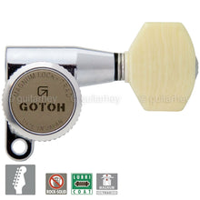 Load image into Gallery viewer, NEW Gotoh SG360-M07 MGT Magnum Locking MINI keys 6 In-Line Set w Screws - CHROME