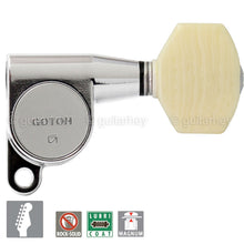 Load image into Gallery viewer, NEW Gotoh SG360-M07 MG Magnum Locking Tuners 6-in-Line Set w/ Screws - CHROME