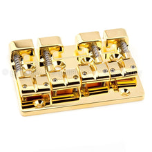 Load image into Gallery viewer, NEW Gotoh J510BO-4 Multi-Tonal Series 4-String Bass Bridge Brass Saddle - GOLD