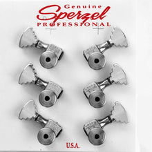 Load image into Gallery viewer, USA Sperzel LOCKING TUNERS Trim-Lock PIN w/ STEP Buttons SET 3x3 - CHROME PLATED