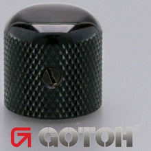 Load image into Gallery viewer, NEW (1) Gotoh VK1-18 - Control Knob DOME - Bass, Guitar, 6mm ID - METAL - BLACK