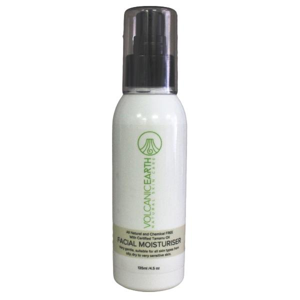 Facial Moisturizer with organic Tamanu Oil 135ml face moisurizer Volcanic Earth