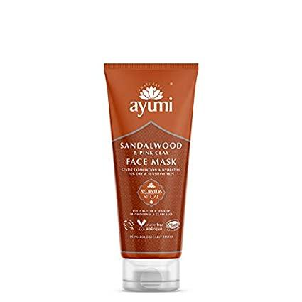Sandalwood & Pink Clay Facial Mask 125ml Health and Beauty Ayumi Naturals