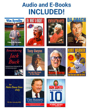 Load image into Gallery viewer, Must-reads for sports fans!  Tom Brady, Lee Roy Selmon and Joe Maddon hardcover books – plus 13 Audio and Ebooks for free!