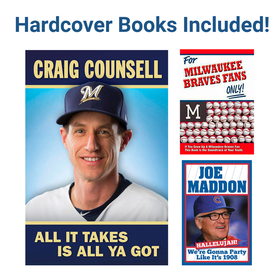 Father's Day Sports Fan Book Package - Craig Counsell