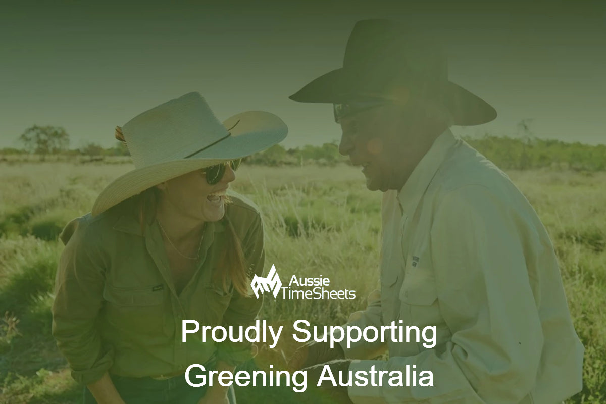 Aussie Time Sheets Proudly Supporting Greening Australia