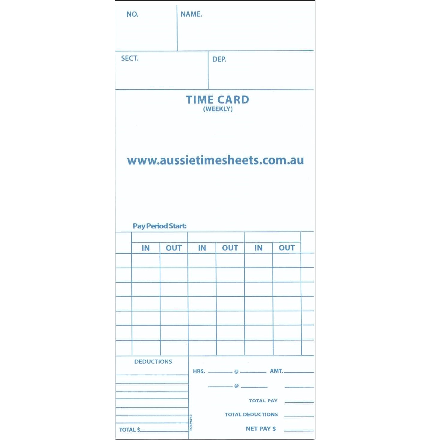 time card sheets