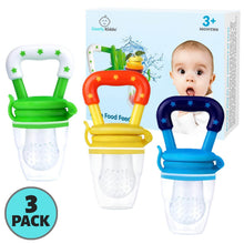Load image into Gallery viewer, Fresh Fruit Baby Pacifier | 3+ Months | 3-Pack - Comfy Kiddo™