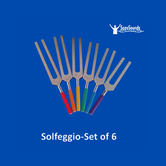 Solfeggio Tuning Forks- Unweighted Set of 6