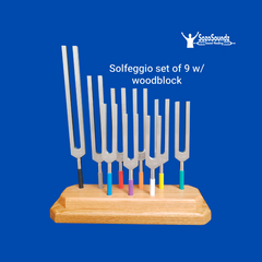 Solfeggio Tuning Forks - Unweighted Set of 9