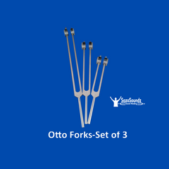 Otto Tuning Forks - Set of 3  (32 Hz, 64 Hz, 128 Hz