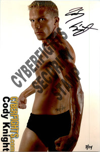 CODY KNIGHT AUTOGRAPHED 8X12 PROMO PHOTO