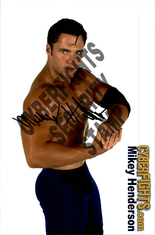 MIKEY HENDERSON AUTOGRAPHED 8X12 PROMO PHOTO