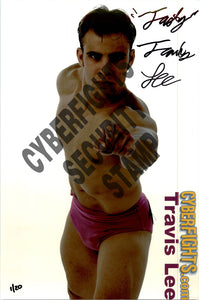 TRAVIS LEE AUTOGRAPHED 8X12 PROMO PHOTO