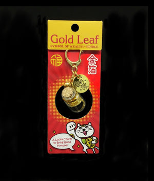 Gold leaf in a small bottle (Maneki-Neko Package)