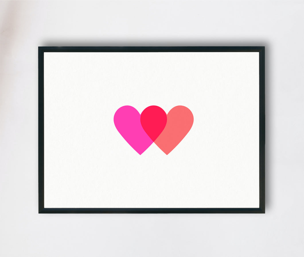 Interlocking Hearts Print