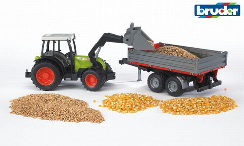 Bruder Claas Nectis Tractor with Loader and Trailer 1:16