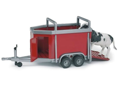 Bruder Cattle Trailer with Cow 1:16
