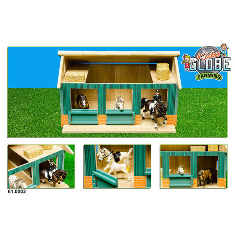 Kids Globe - Horse Stable with 2 boxes (1:24 scale)
