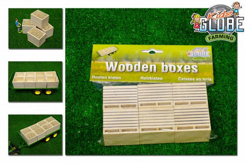 Kids Globe - Wooden Potato Boxes (1:32 scale)