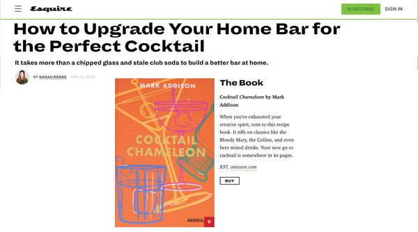 Cocktail Chameleon on Esquire.com