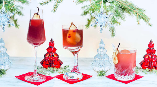Pom Pear Holiday Cocktail served 3 ways | Cocktail Chameleon by Mark Addison Blog