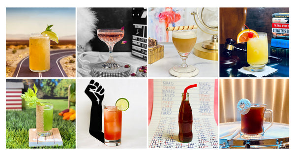 2021 Oscar Cocktail Collection by Mark Addison - inspired by the Best Picture Nominated films for the 2021 Accademy Awards
