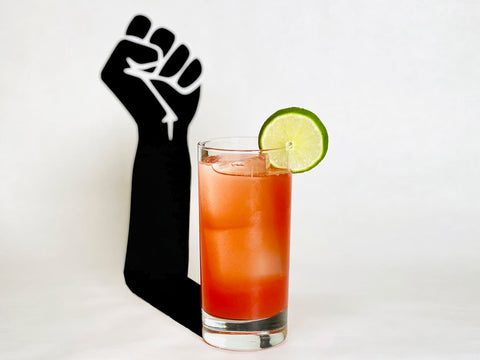 """Betrayal Cocktail for the film """"Judas and the Black Messiah"""" - 2021 Oscar Cocktail Collection by Mark Addison"""