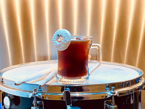 """Blackgammon Cocktail for the film """"Sound of Metal"""" - 2021 Oscar Cocktail Collection by Mark Addison"""